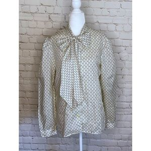 Vintage Country Suburban Pussy Bow Blouse